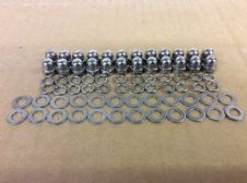 M6 DOMED SS NUTS AND M6 SS FLAT WASHERS M6 SPRING SS WASHERS (24 OF EACH)